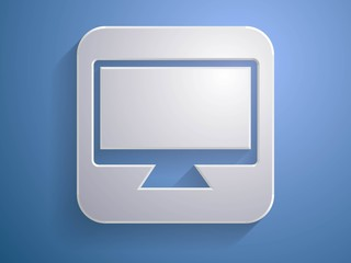 3d Vector illustration of a monitor icon