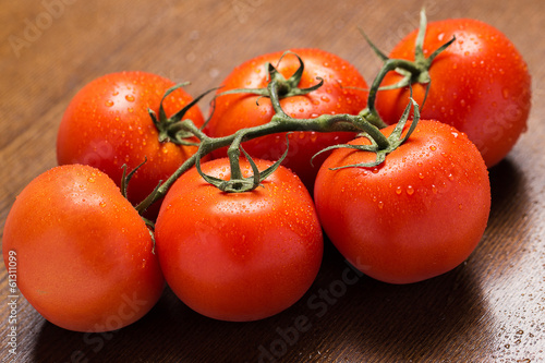Fresh and wet tomatoes
