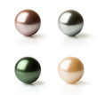 set of pearls of different colors