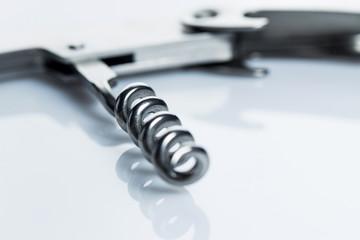 Knife with corkscrew