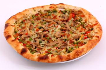 Lahmacun / Pizza with mushroom