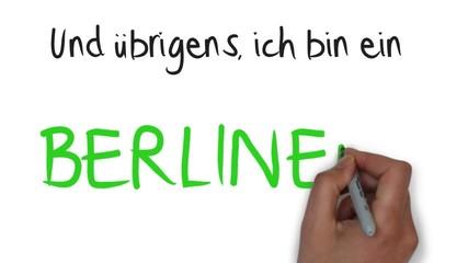 Ich bin ein Berliner normale Hand