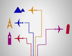 Flight destination dots
