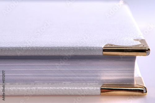 book album on a gray background