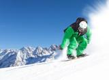 Fototapeta snoboarder in the alps