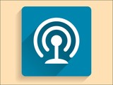 Vector Flat long shadow icon of wifi