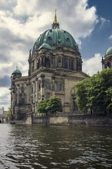 Berliner Dom, view from Spree