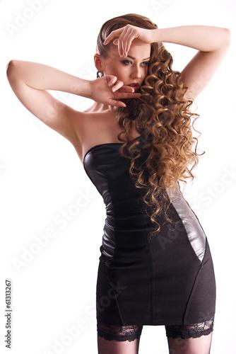 fashionable woman isolated on white background