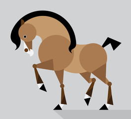 bay horse - illustration