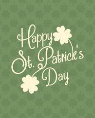 Typographic St. Patrick's Day Design