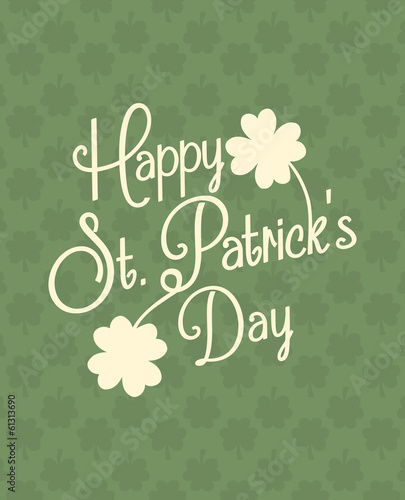 Typographic St. Patrick's Day Design