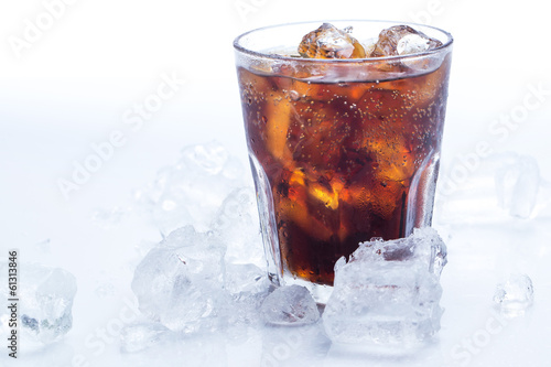 Glass of fresh coke - 61313846