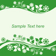 Seasonal Background with floral Borders in shades of green.