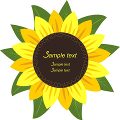 Sunflower in the form Frame for your information