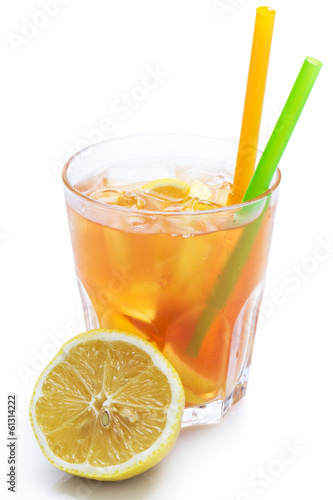 Fresh cocktail with lemon