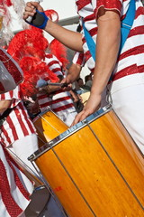 Rio Carnival - Bateria, the musical section playing Samba