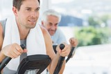 Man using exercise machine