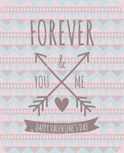 Aztec Pattern Valentine's Day Design