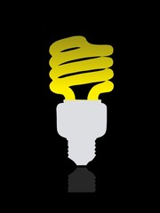 Light lamps icon isolated on background