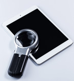 Tablet pc and magnifier
