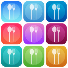 Apps color food smoth icon set