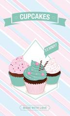 Vector Cupcakes Invitation
