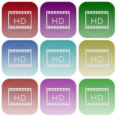 Apps color video HD smoth icon set