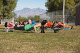 Adults Doing Push Ups
