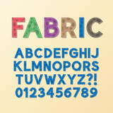 Abstract Fabric Font and Numbers, Eps 10 Vector, Editable for an
