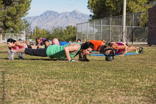Push Ups Training Outdoors