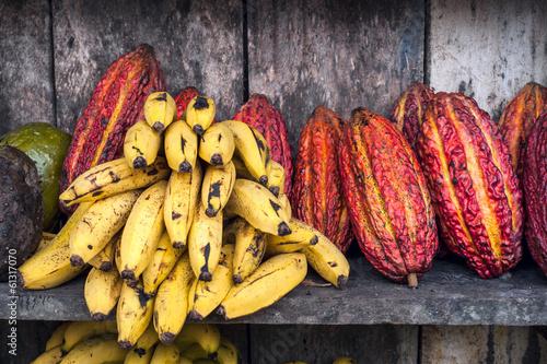 Papiers peints Amérique du Sud Latin America Fruit street market
