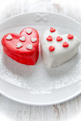 Heart cup cake
