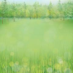 Vector spring landscape.