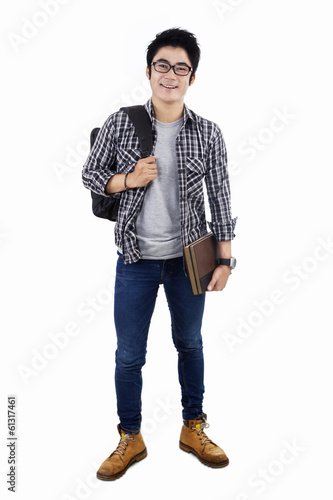 Male College Student - Isolated