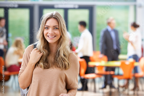 canvas print picture Portrait Of Teenage Female Student In Classroom
