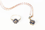 gold jewelry with sapphires - 61318403