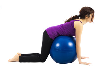 Pilates ball exercise for abs