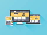 Modern flat illustration of website coding vector eps10