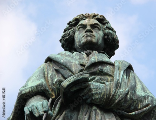 MONUMENT OF LUDWIG VAN BEETHOVEN in Bonn, Germany.