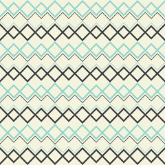 Square with zig zag seamless pattern