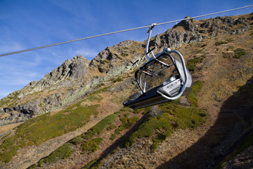 chairlift in mountains of Krasnaya Polyana