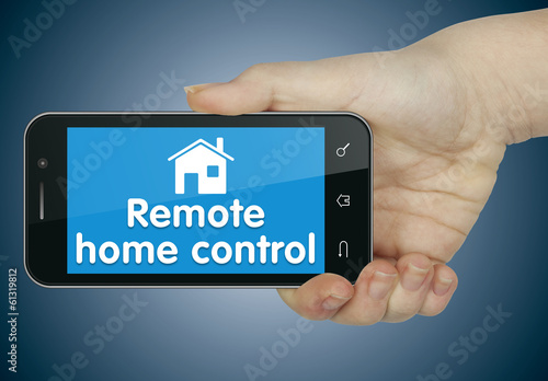 Remote home control. Phone