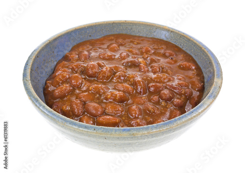 Chili With Beans In Bowl Side View
