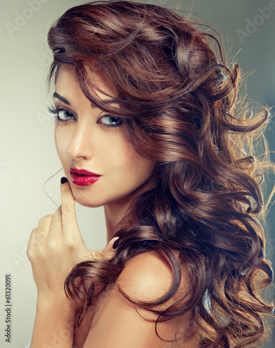 Model with beautiful  curly hair