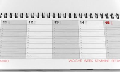 Terminkalender Langformat, blanko