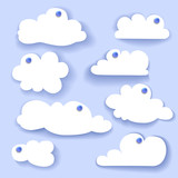 Paper Speech Bubble. Cloud sticker