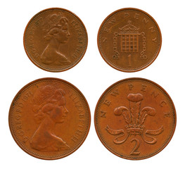 new penny, two new pences, United Kingdom