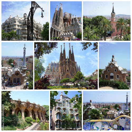 Barcelona, Spain: Parc Guell, Sagrada Familia by Gaudi
