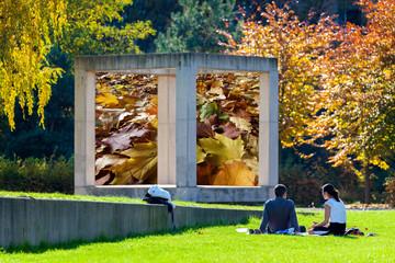 Pause im Park