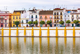 Cityscape River Seville Andalusia Spain